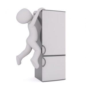 Kühlschrank transportieren alleine unmöglich