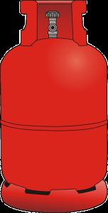Typische Flasche für den Gaskühlschrank
